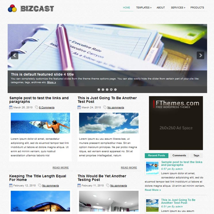 BizCast WordPress шаблон
