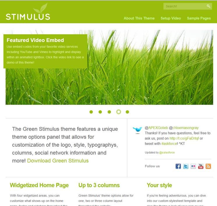 Green Stimulus 3цв.сх. WordPress шаблон