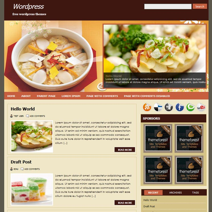 FoodPress WordPress шаблон
