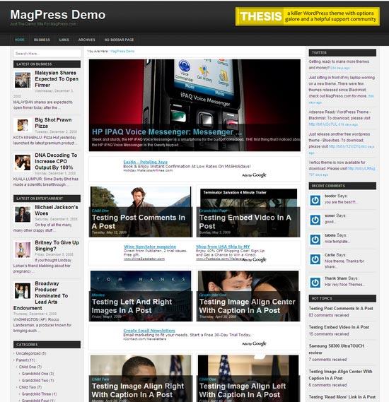 Tritone WordPress шаблон