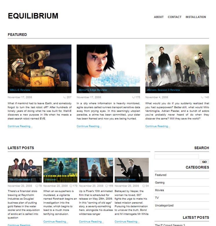 Equilibrium WordPress шаблон