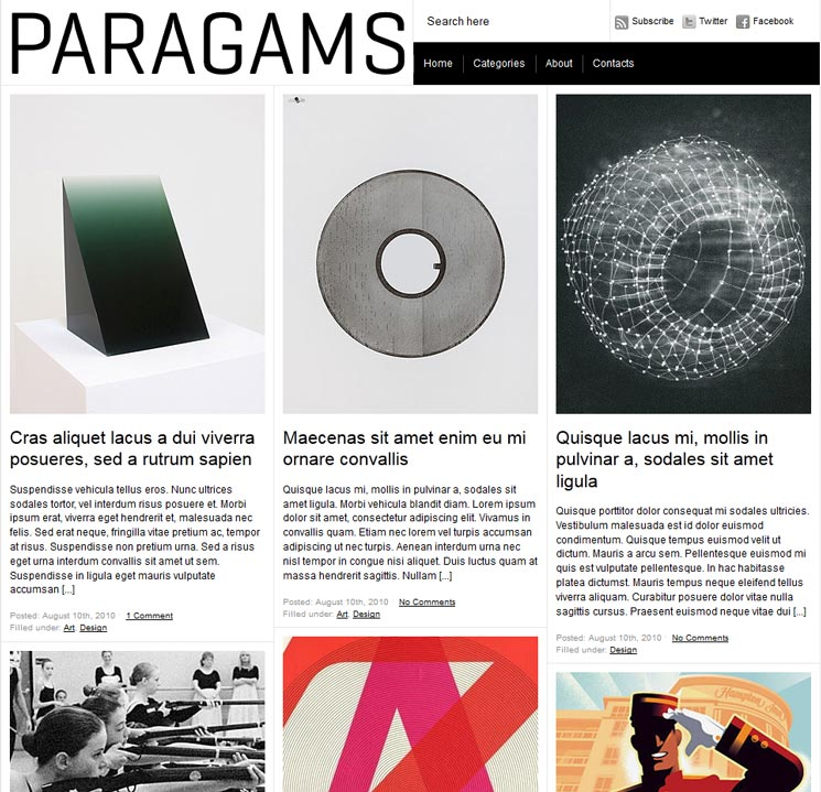 Paragrams WordPress шаблон