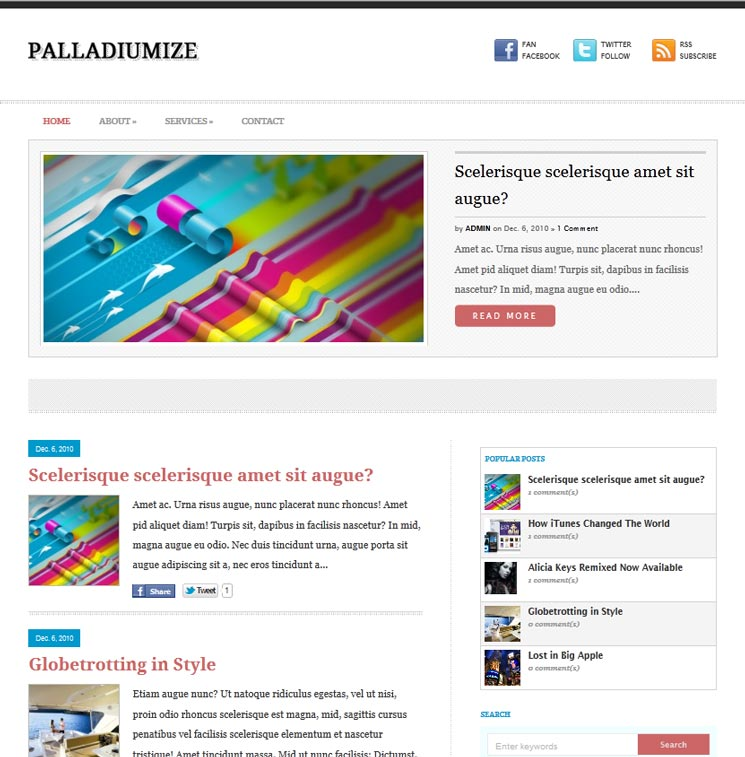 Palladiumize WordPress шаблон