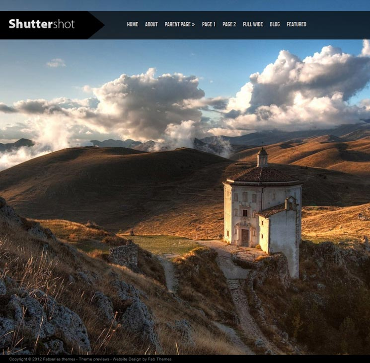 Shuttershot WordPress шаблон