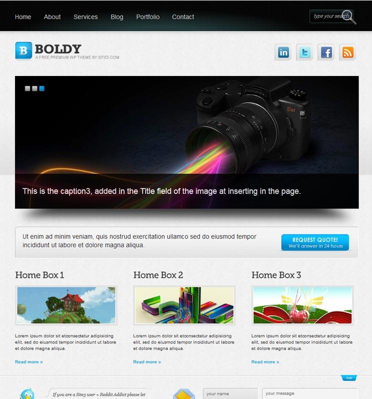 Boldy WordPress шаблон