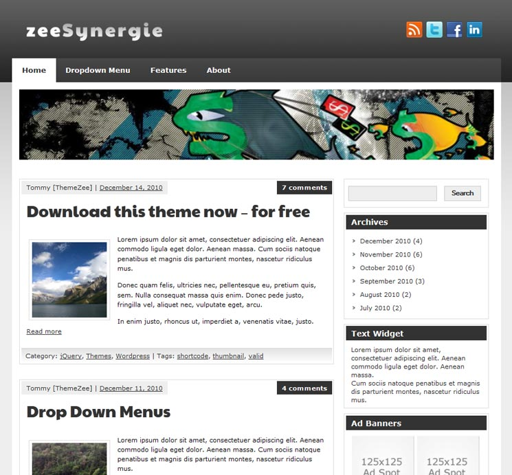 zeeSynergie WordPress шаблон