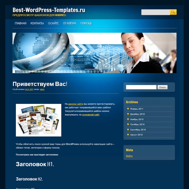 Online Marketer WordPress шаблон