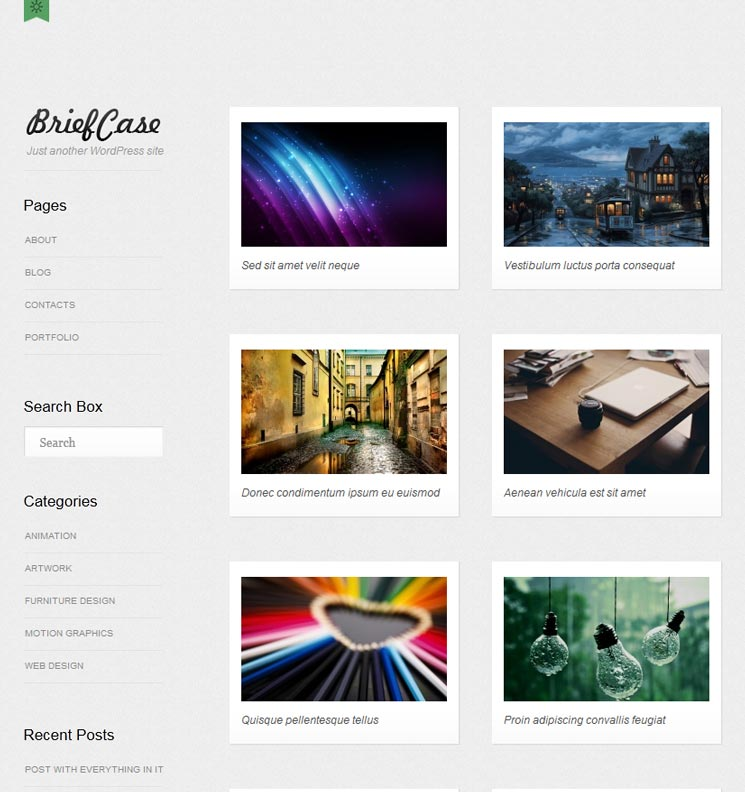Briefcase WordPress шаблон