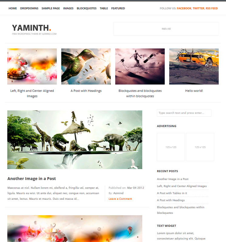 YAMINTH WordPress шаблон