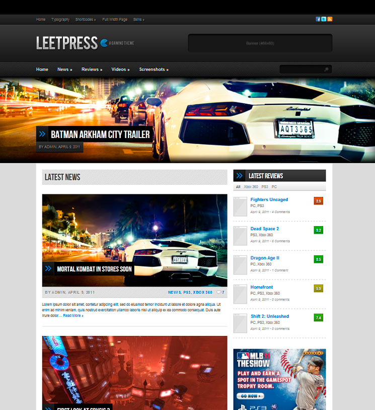 LeetPress WordPress шаблон