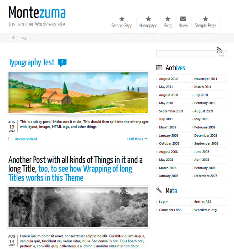 Montezuma WordPress шаблон