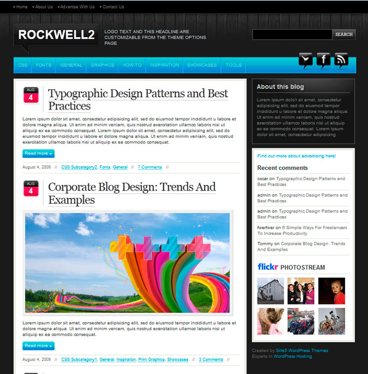 Rockwell WordPress шаблон