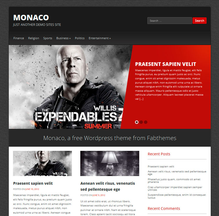 Monaco WordPress шаблон