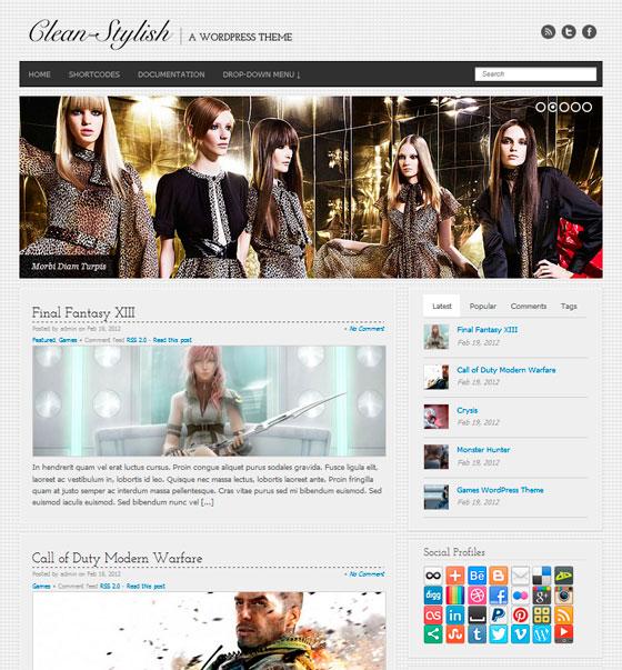 Clean Stylish WordPress шаблон