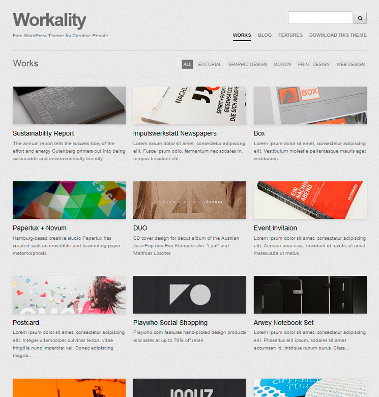 Workality WordPress шаблон