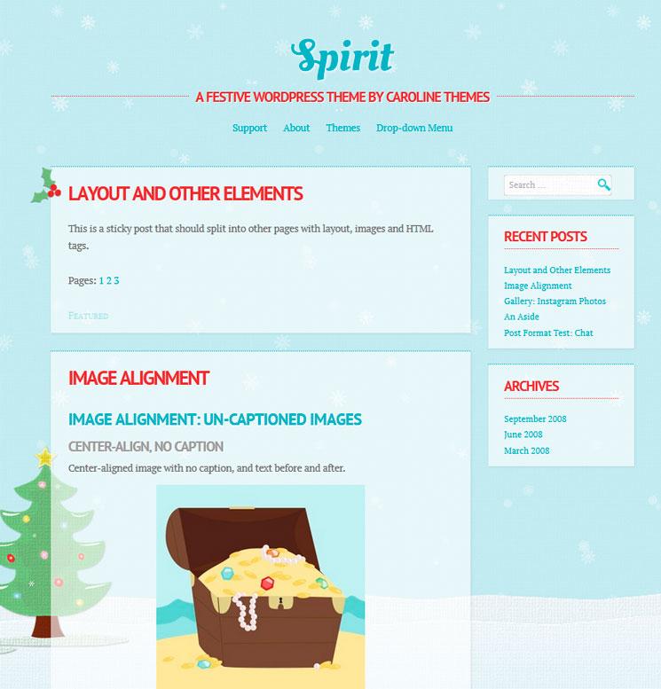 Spirit WordPress шаблон
