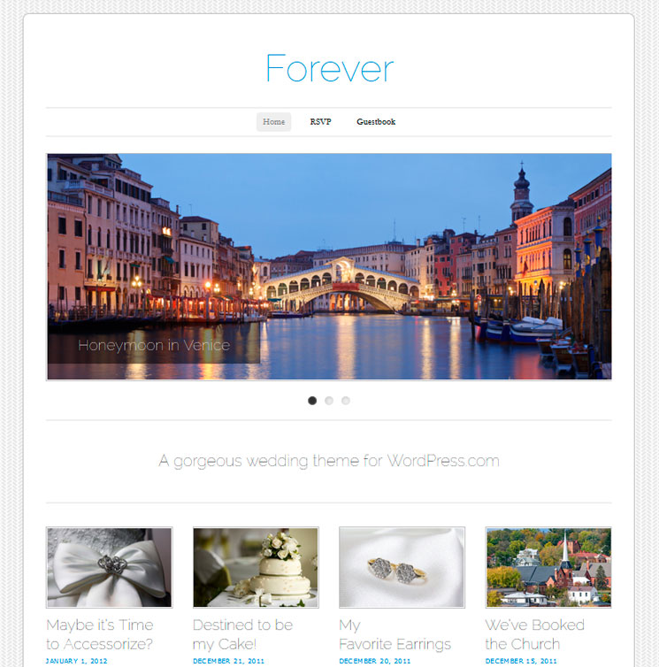 Forever WordPress шаблон