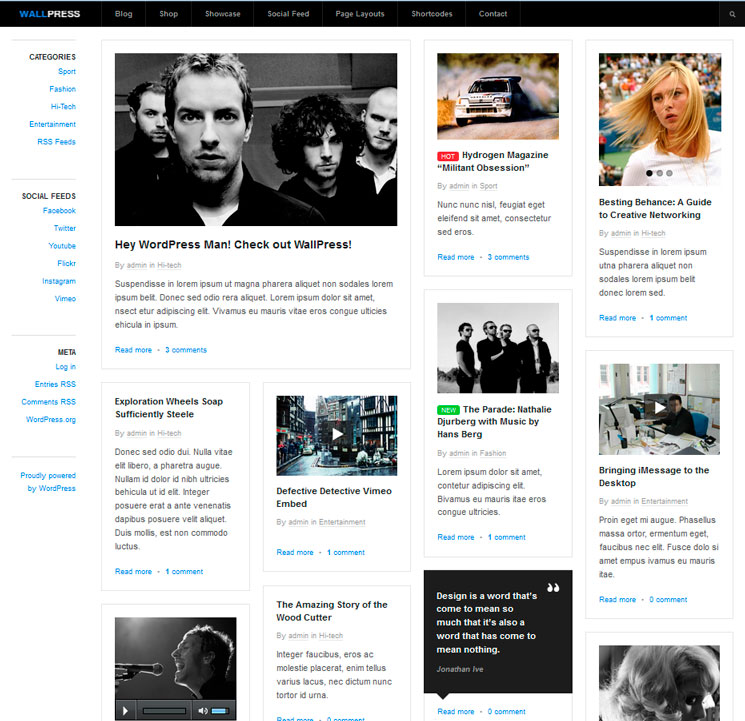 WallPress WordPress шаблон