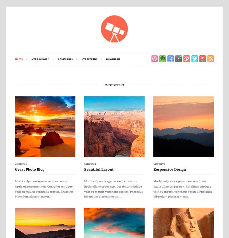 Photo WordPress шаблон