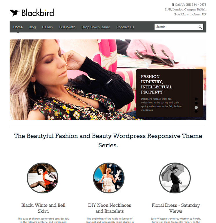 BlackBird WordPress шаблон