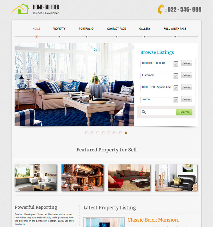 Home Builder WordPress шаблон
