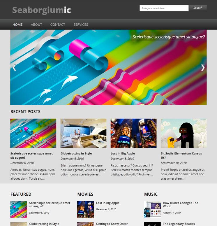 Seaborgiumic WordPress шаблон
