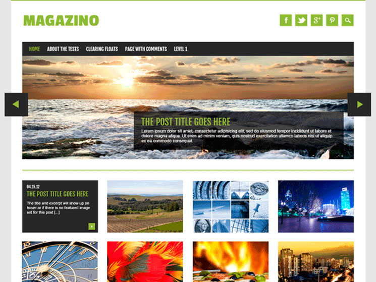 Magazino WordPress шаблон