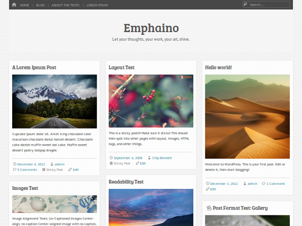 Emphaino WordPress шаблон