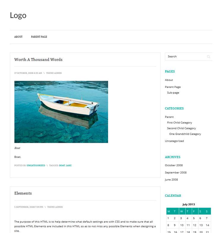 Prana WordPress шаблон