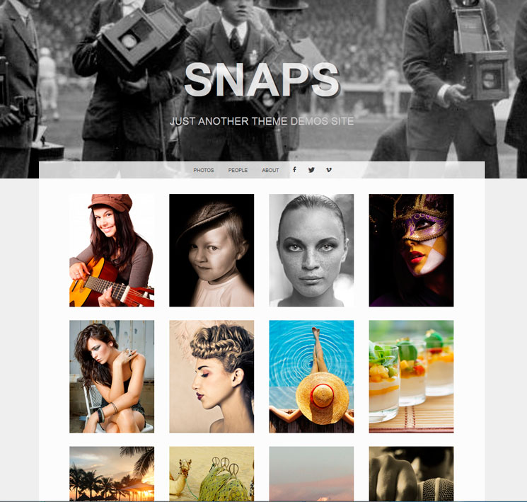 Snaps WordPress шаблон