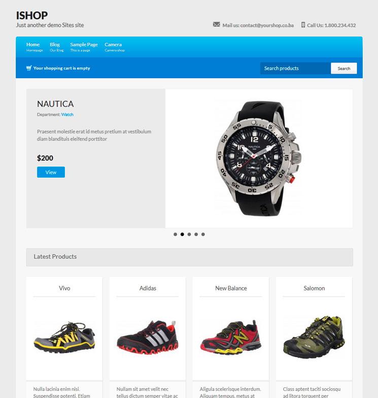 iShop WordPress шаблон