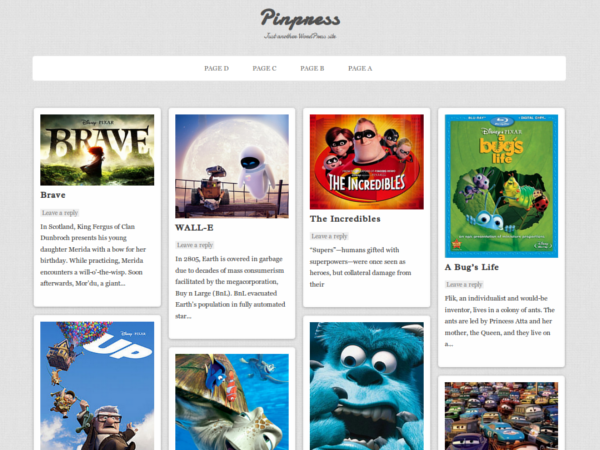 Pinpress WordPress шаблон