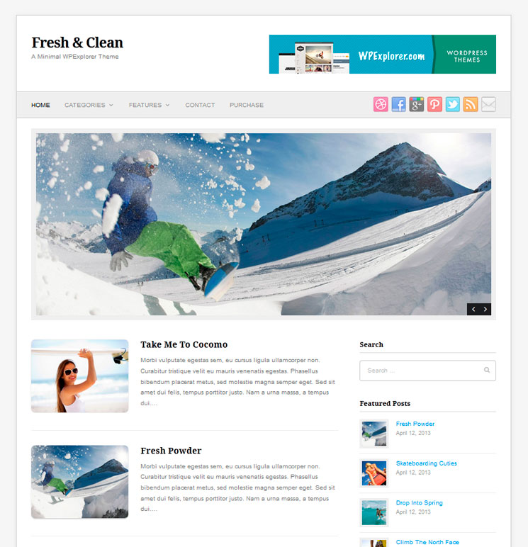 Fresh & Clean WordPress шаблон