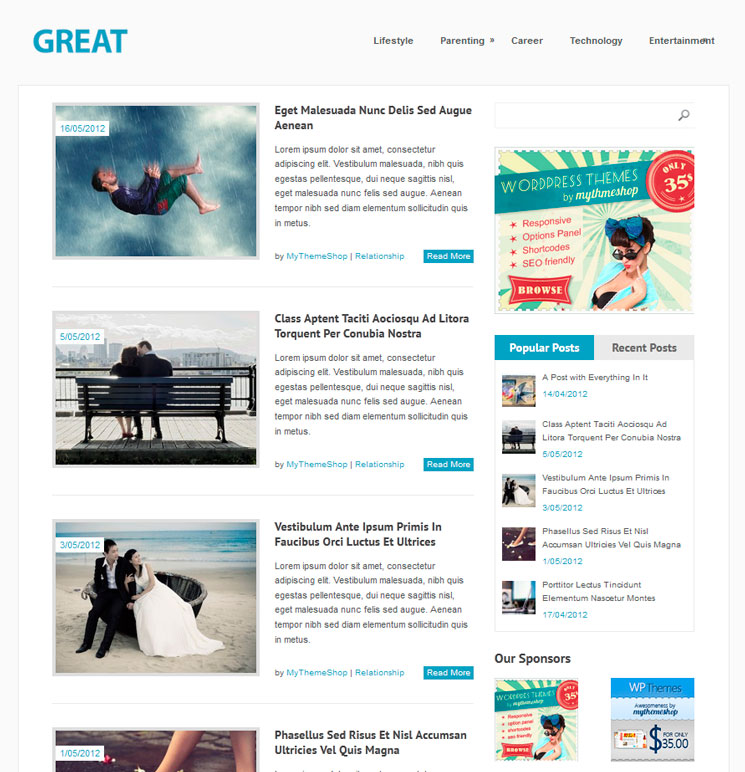 Great WordPress шаблон