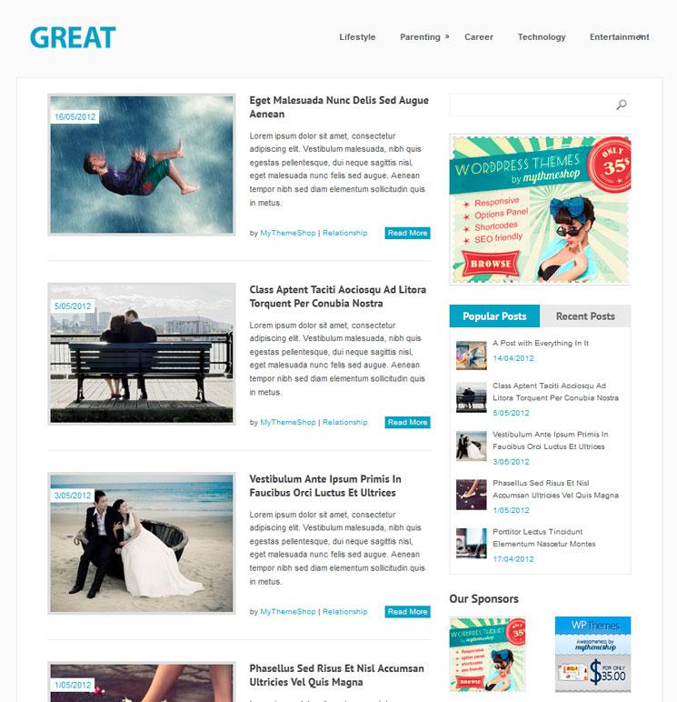 Great WordPress шаблон