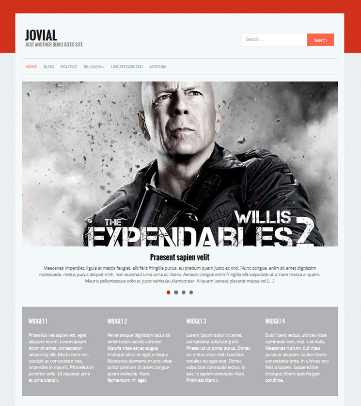 Jovial WordPress шаблон