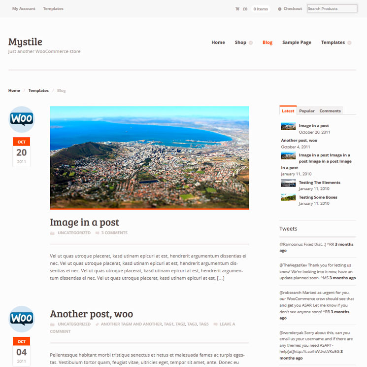 Mystile WordPress шаблон