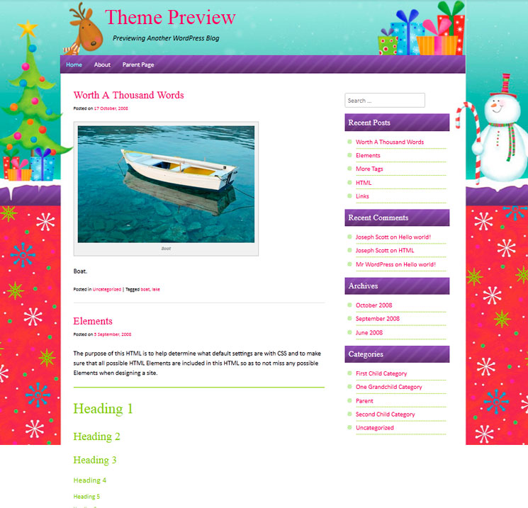 ChristmasPress WordPress шаблон