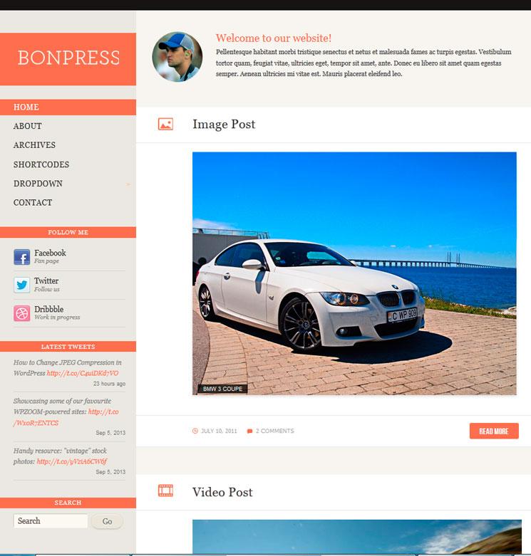 Bonpress WordPress шаблон
