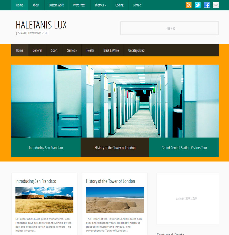 HaletanisLux WordPress шаблон