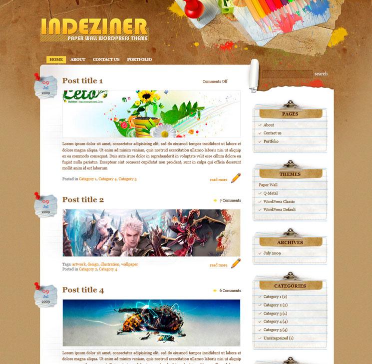 Paper Wall WordPress шаблон