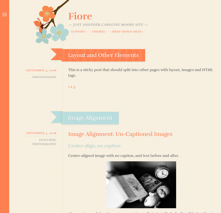 Fiore WordPress шаблон