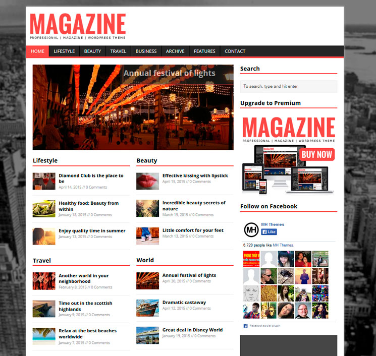 MH Magazine lite WordPress шаблон