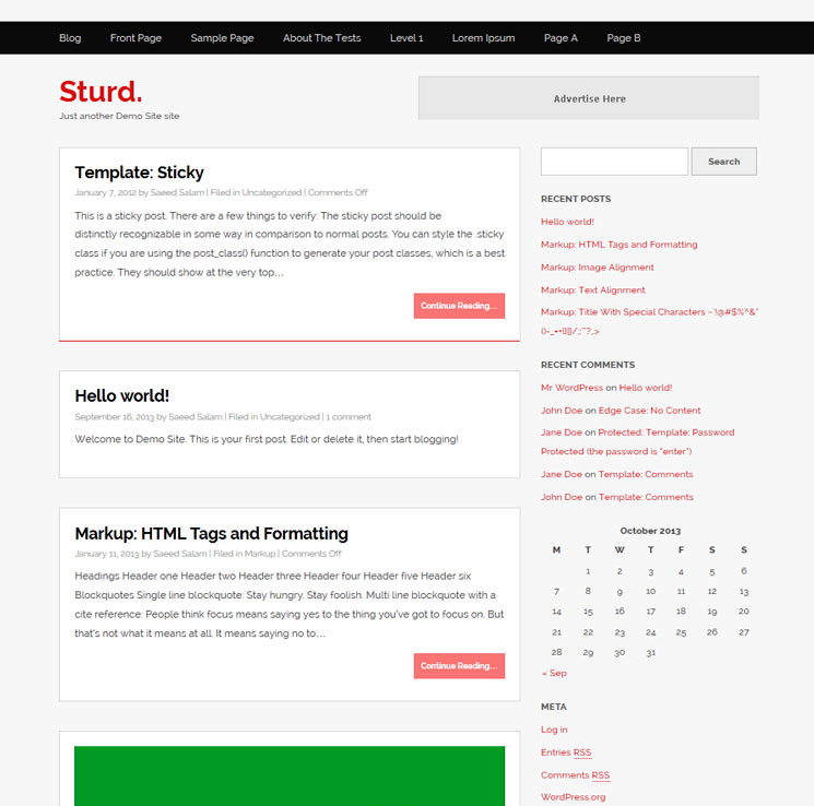 Sturd WordPress шаблон