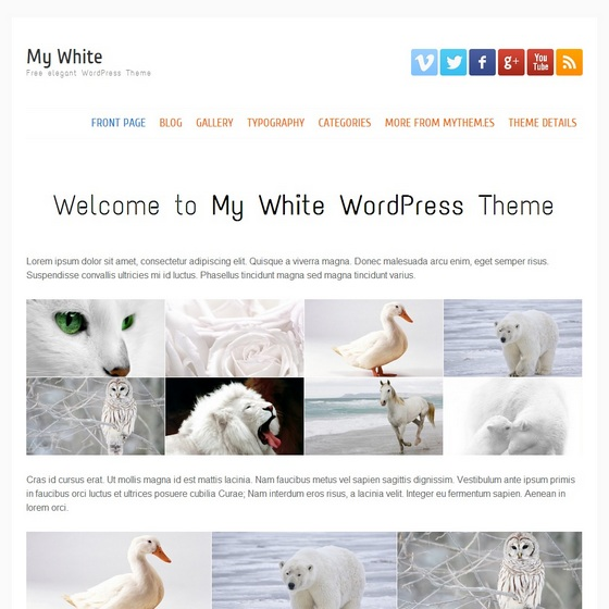My white WordPress шаблон