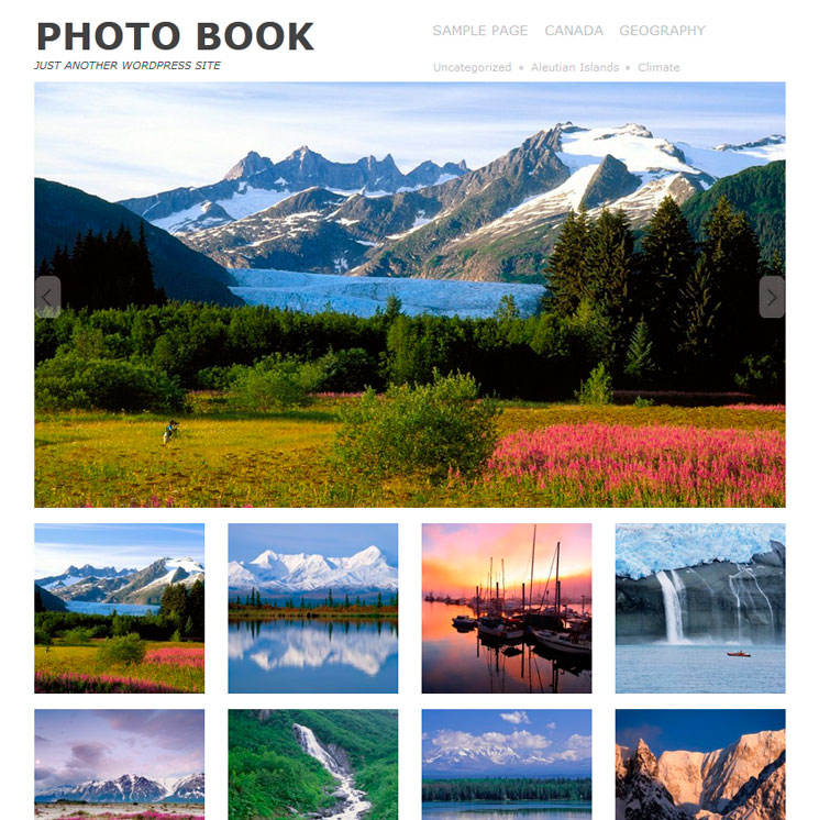 Photo book WordPress шаблон