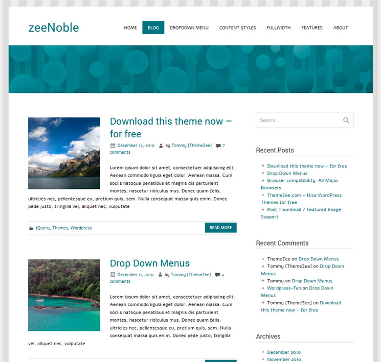 Zeenoble WordPress шаблон