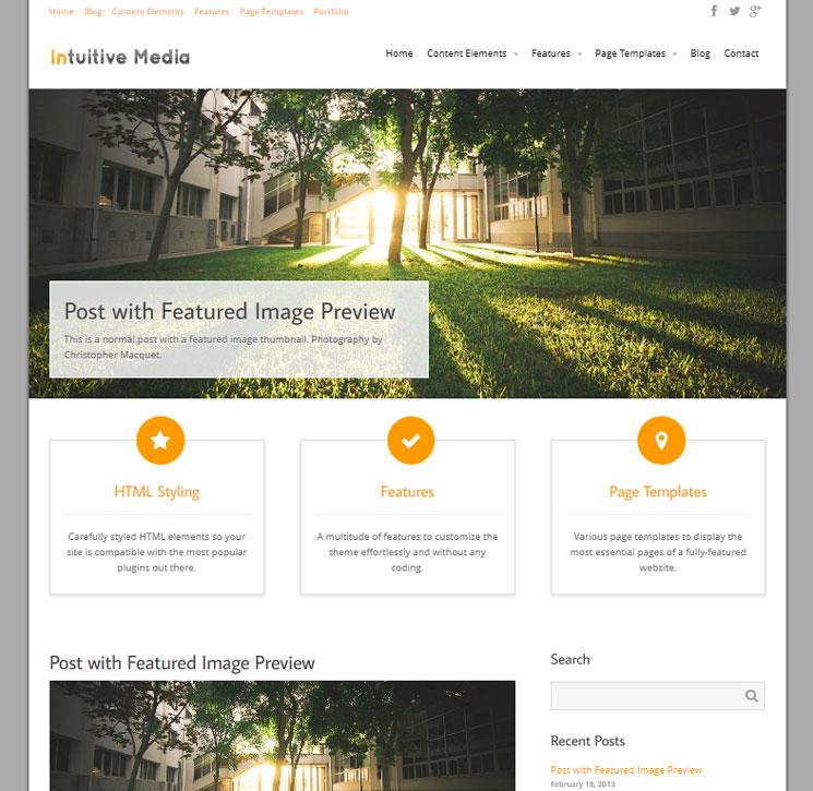 Intuition WordPress шаблон
