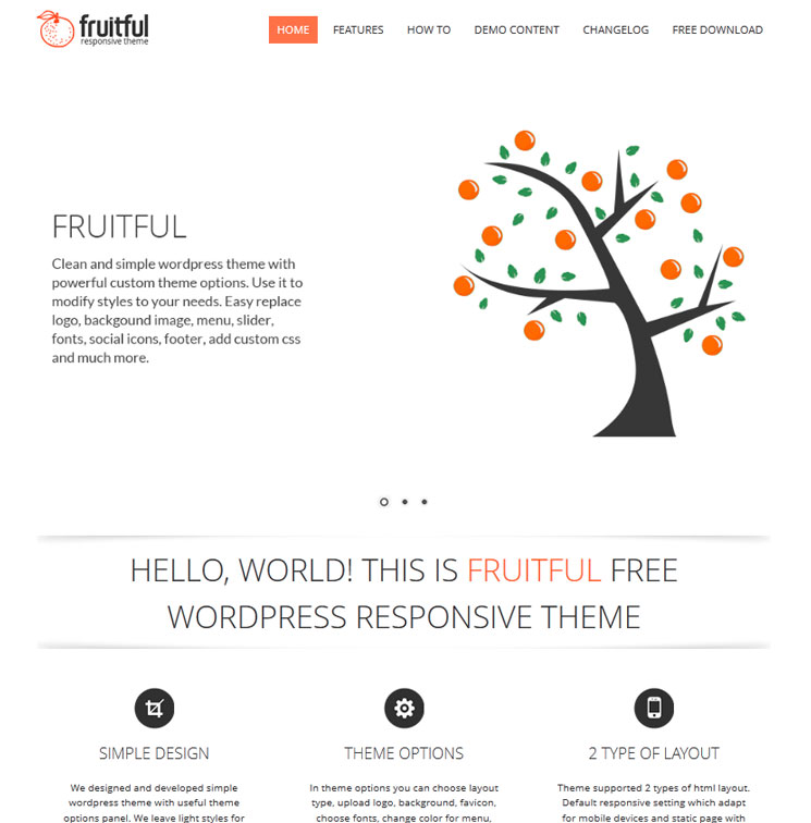 Fruitful WordPress шаблон