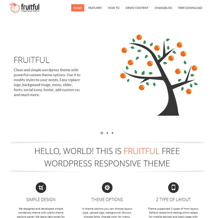 Fruitful WordPress шаблон